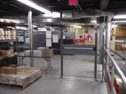 Mezzanine Enclosure with Panic Bar Door