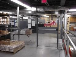 Mezzanine Enclosure with Panic Bar Door