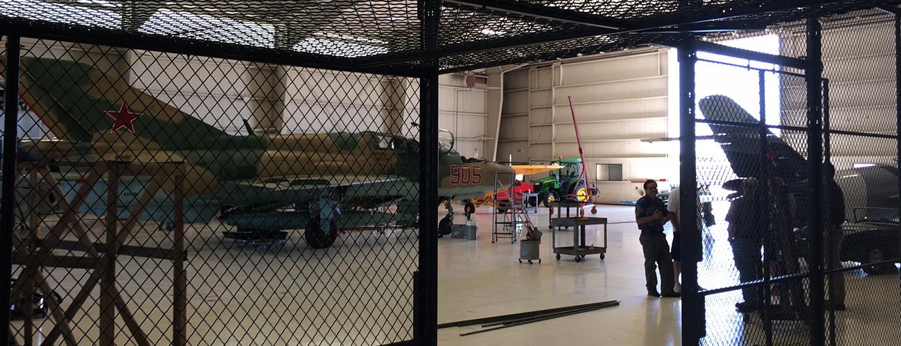 Military Aircraft Hanger Wire Mesh Diamond