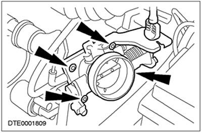 Корпус дроссельной заслонки (1.6L Zetec-SE/1.4L) Ford Focus 1
