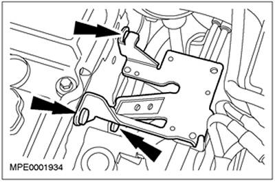 Кронштейн катушки зажигания 1.8/2.0/1.6 Zetec-E Ford Focus 1