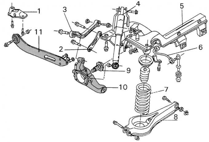 Шасси: Задняя подвеска Ford Mondeo 2