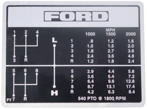 DEC451  Ford Shift Pattern Decal  8 Speed Transmission