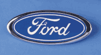 CHROME PACKAGE Ford F150 Grille Emblem Blue Oval 2005 2006 2007 With Factory Chrome Package Grille ONLY - FordPartsOne