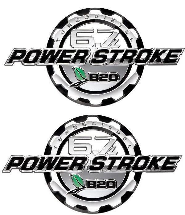 Powerstroke Diesel 6.7L Chrome Door Emblem Set 2011 2013 - FordPartsOne