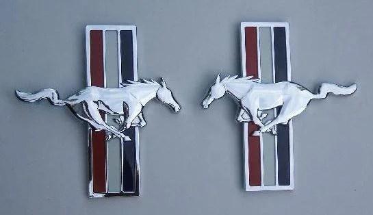 Mustang Pony Package Fender Emblem Set - FordPartsOne