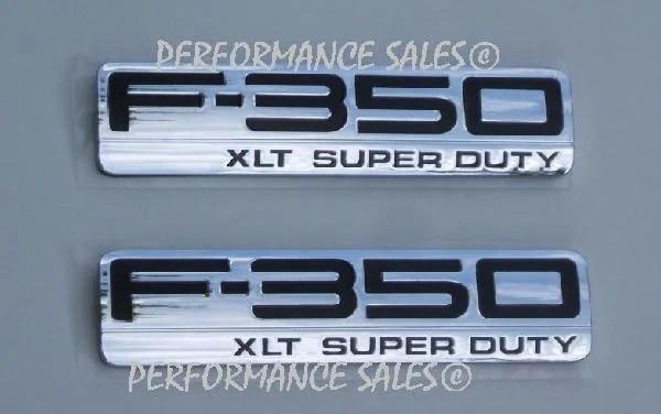 F350 XLT Fender Emblem Set 2005 2006 2007 - FordPartsOne