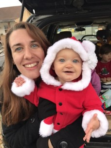 Some family time - Amy with Seraphina at the Goodlettsville Christmas parade