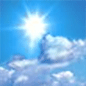 Mostly sunny, with a high near 68. Northwest wind 10 to 15 mph, with gusts as high as 30 mph.