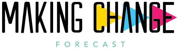 logo of the phrase Making Change with arrows pointing right