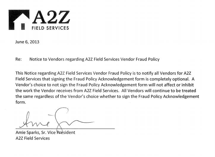 A2Z Memo