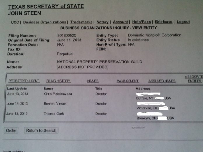 NPPG Info Obtained From SECSTATE of Texas
