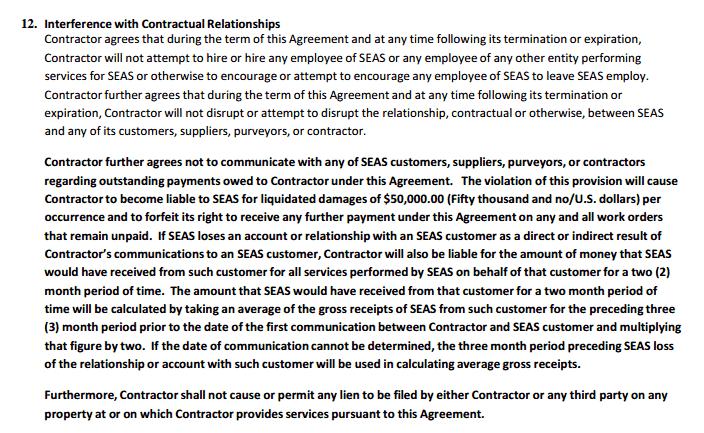 SEAS LLC 50K Demand