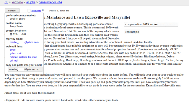 "Master ""Is This BDSM"" Swain Craigslist Ad"