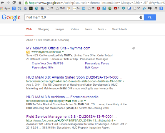 Foreclosurepedia Controls Top Two Spots On Google Page One!