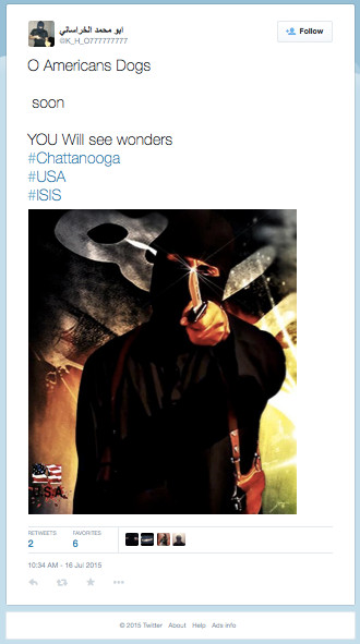 ISIS Tweet minutes before Chattanooga Shooting today