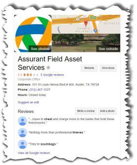 AFAS Google Review