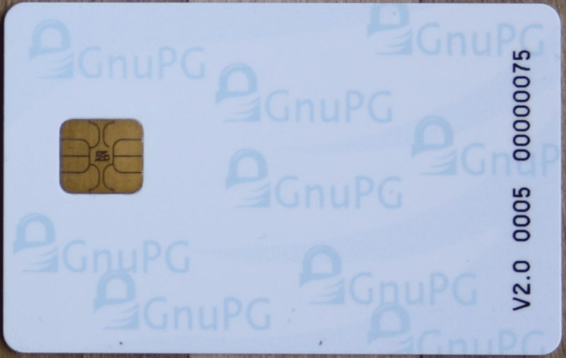 OpenPGP Card Side 1