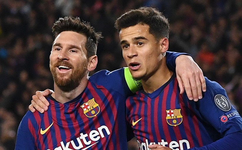 UEFA Champions League: Mercurial Messi, Coutinho Stop Man United 4-0