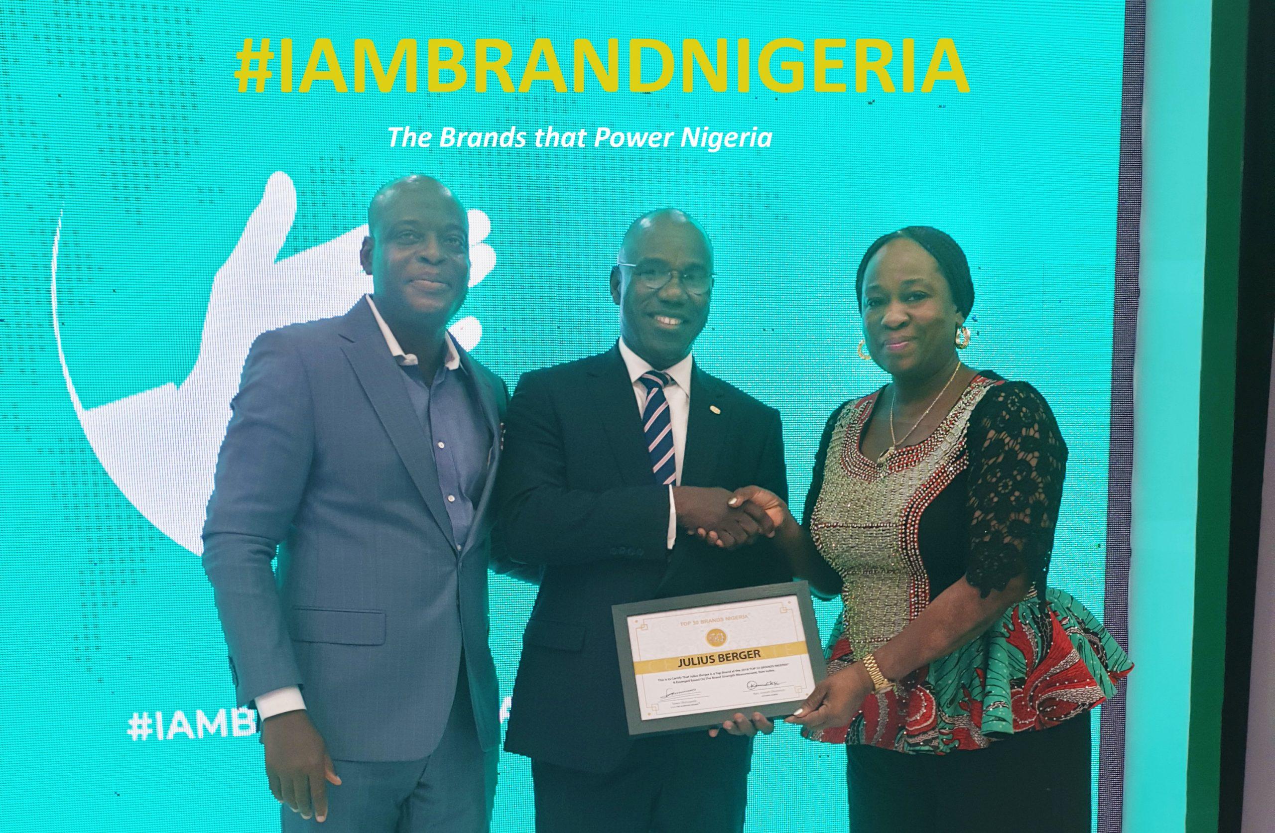 Julius Berger Tops 50 Brands Nigeria Awards Again