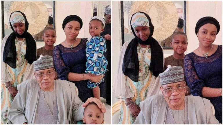 "How Rahama Indimi ""Doctored"" Ex-Husband's Kids Out of IBB's Photo With Grandchildren"