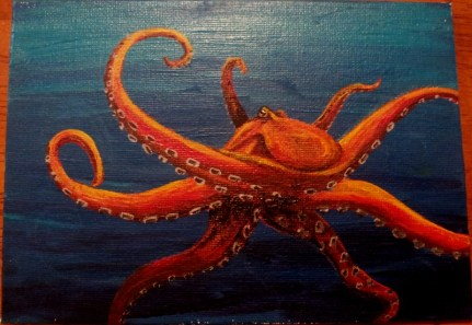 Octopus 3 (acrylic on canvas) - © S. G. Larner