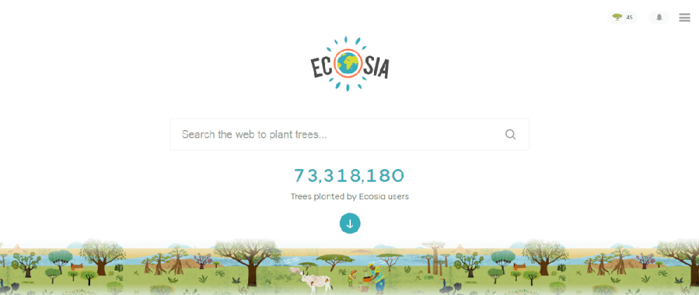 capture ecosia home
