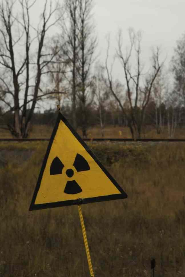 warning sign in chernobyl