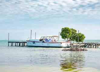 Belize Boat in Water