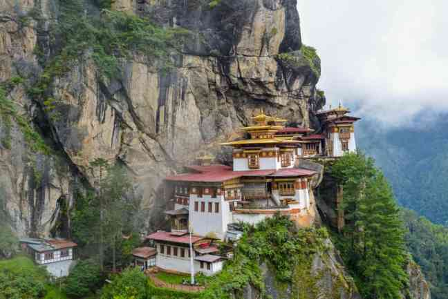 House in the mountains in Bhutan