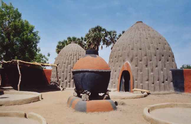 Mud huts of Cameroon