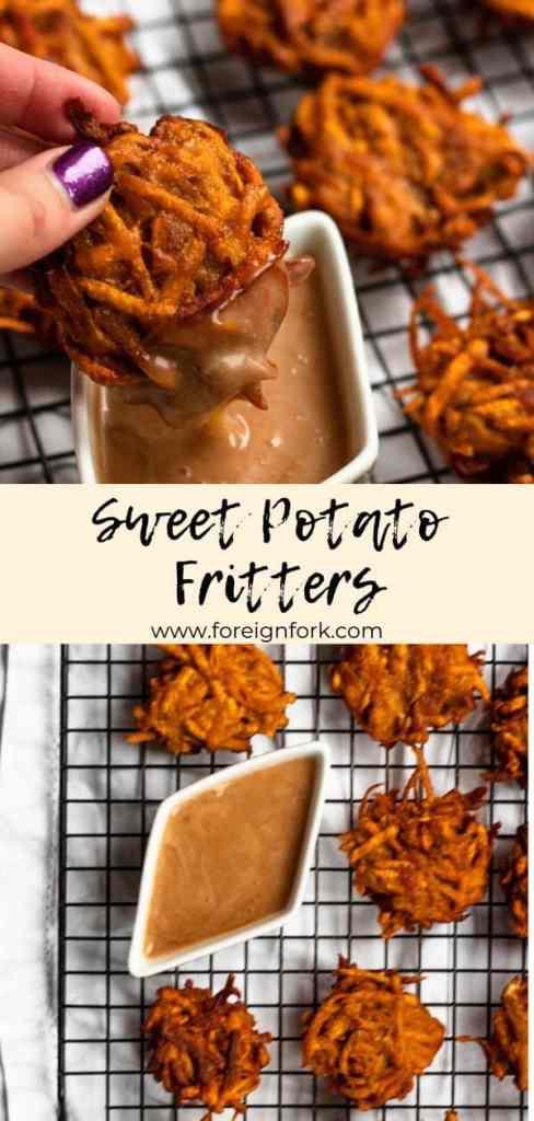 Sweet Potato Fritters Pinterest Image