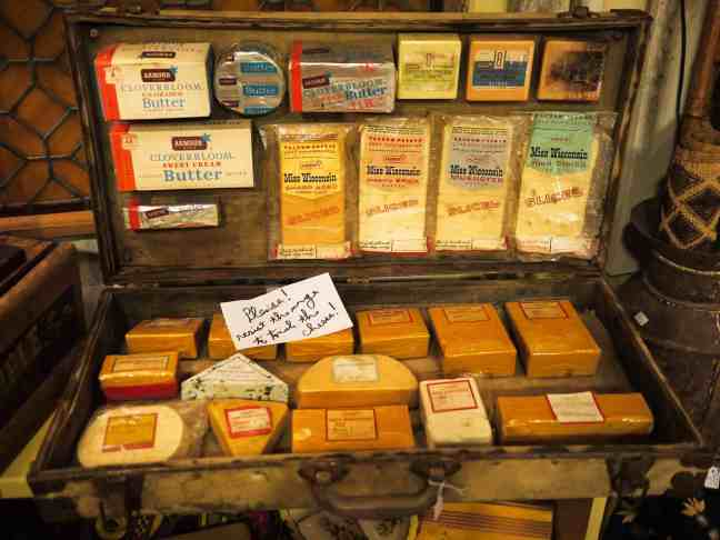 suitcase full of cheese