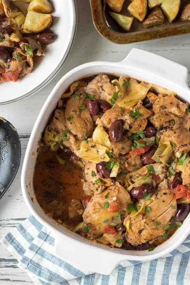 european inspired instant pot recipes: greek chicken thighs