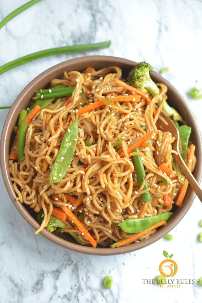 Globally-Inspired Instant Pot recipes vegetable chow mein