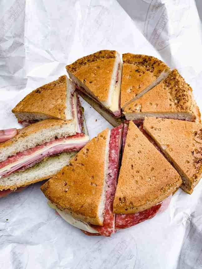 Best food in new orleans: muffuletta sandwich