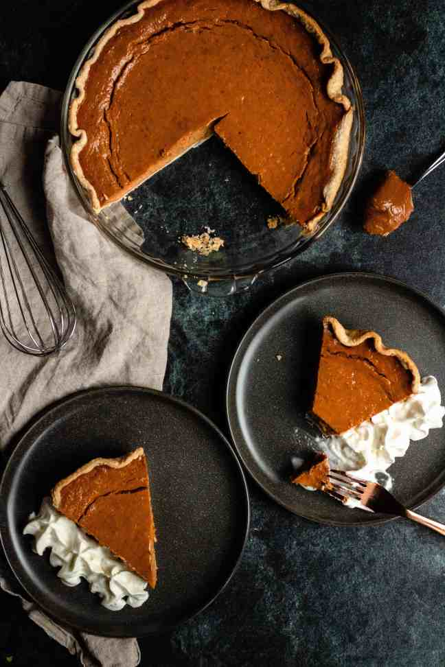 Pumpkin Pie made wtih Dulce de Leche from the Instant Pot