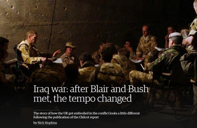 Iraq war: after  Blair and Bush met, the tempo changed