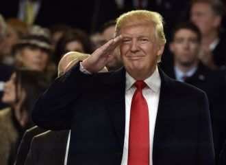 Image result for trump saluting