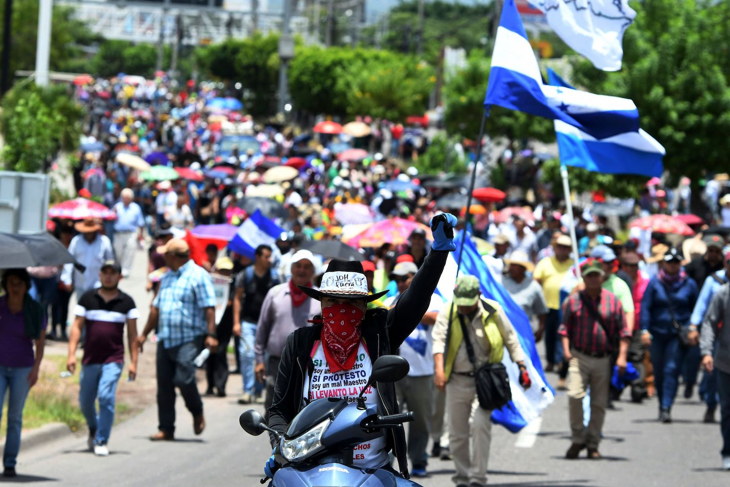 honduran protesters have little