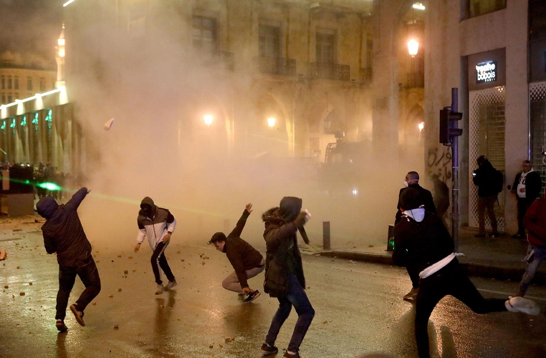 Lebanon's Anti-Government Protests Spiral Into Violence