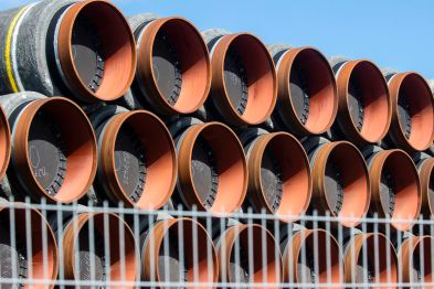 Gas pipes at a German port