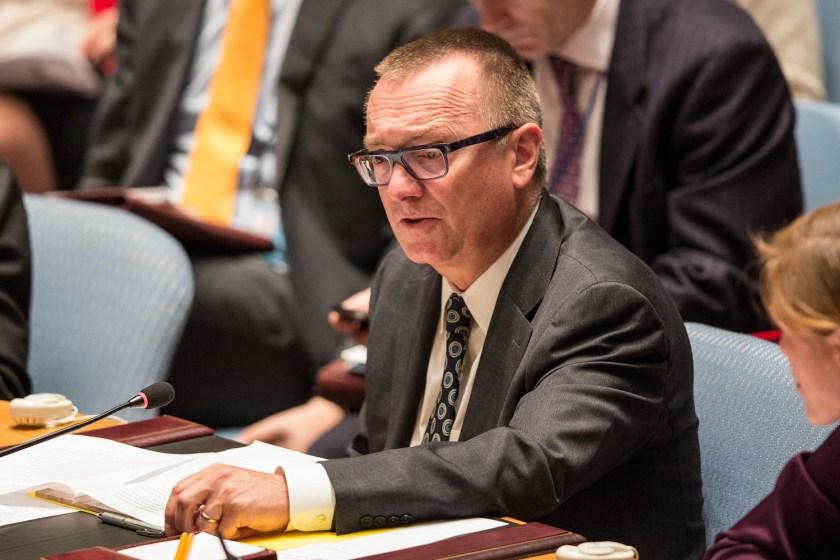 Jeffrey Feltman speaks at the United Nations.