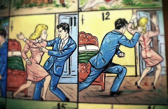 Domestic Violence cartoon strip