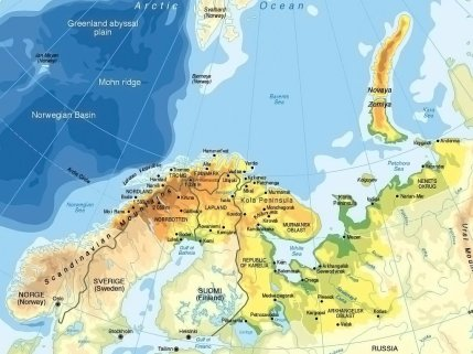 Map of the Barents Region. © Testbedstudio