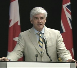 Foreign Minister Lawrence Cannon. © CBC