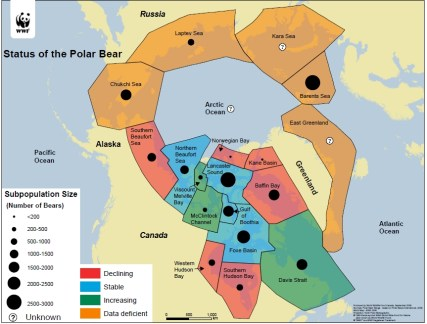 Polar Bear Populations. © WWF.