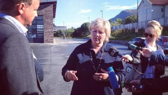 Incoming PM Erna Solberg in Tromsø, August 2013. (c) Høyre