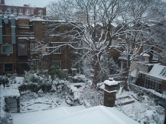 Aamullinen näkymä ikkunastani 2.2.2009.