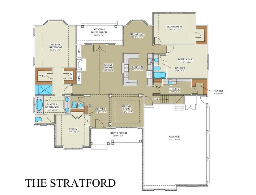Stratford Floor Plan  Custom Builder Frederick County VA